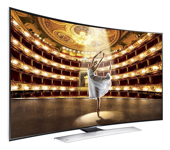 The Samsung UN65HU9000 4K Curved TV