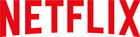 Netflix logo red on a white background