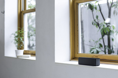 The new Sony SRS-X33 portable wireless speaker in Black