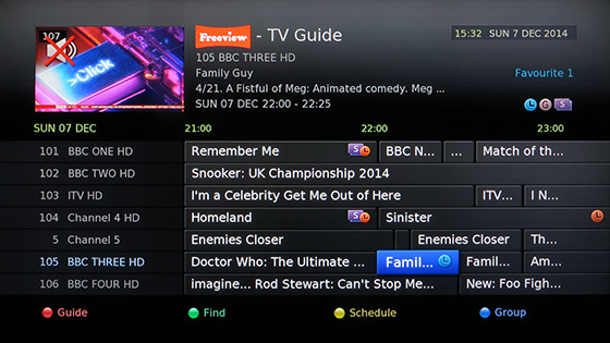 Free view channel guide.